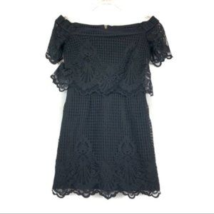 TopShop (2) Black Lace Sheath Mini Dress